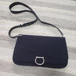 VINTAGE CELINE Black Leather Crossbody Bag Purse
